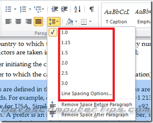 how to set spacing default in word 365