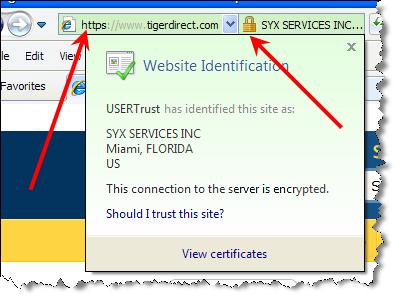 HTTPS symbol