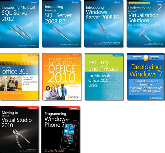 free  10 technical ebooks from microsoft
