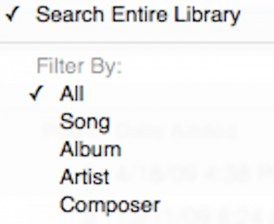 itunes search by type
