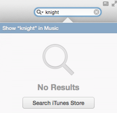 itunes search not found