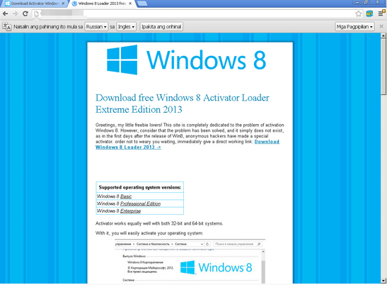 windows 8 bogus activator