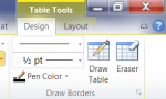 Where is the Table Tool Tab in Word 2007 – 2010?