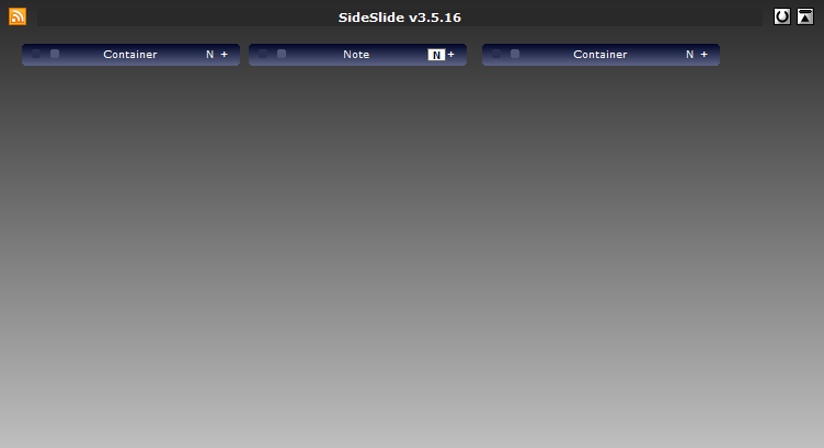 sideslide- containers folded
