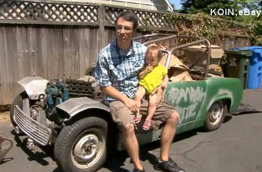toddler buys car on ebay