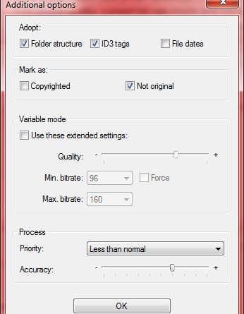 MP3 quality - settings