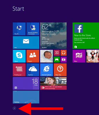 windows 8.1 all apps