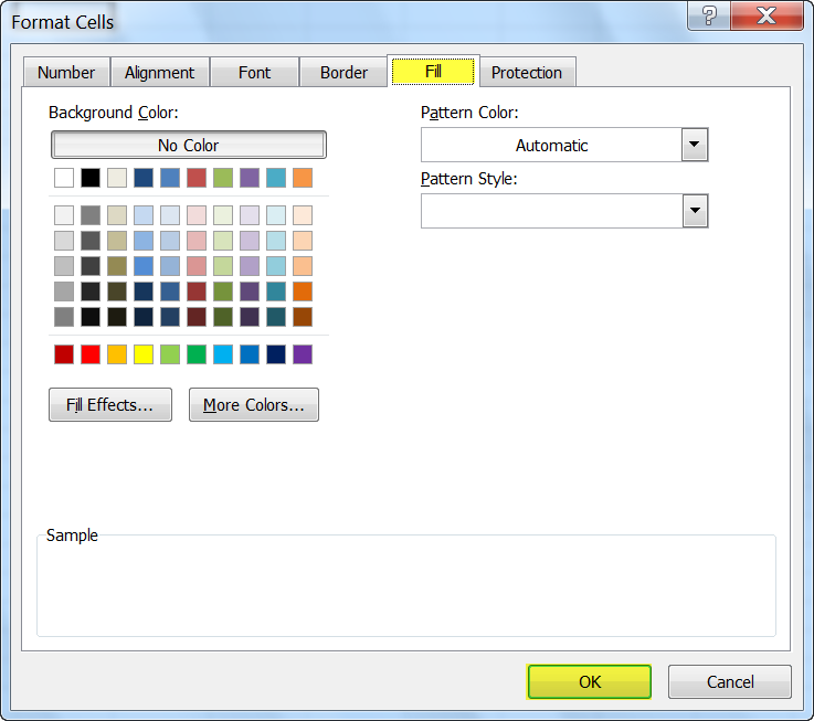 how to change cell colors in excel 2010. Black Bedroom Furniture Sets. Home Design Ideas