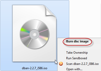 burn disc image