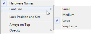 Gadget's right click menu