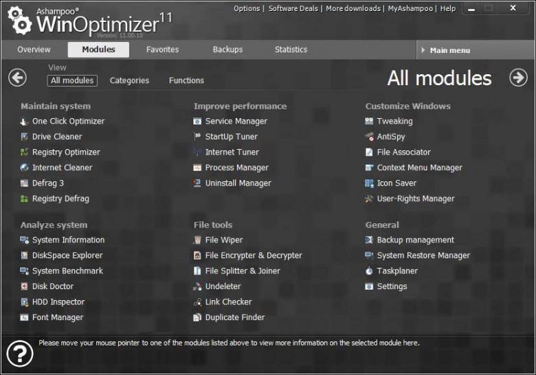 winoptimizer modules