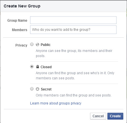 how to create a private facebook account