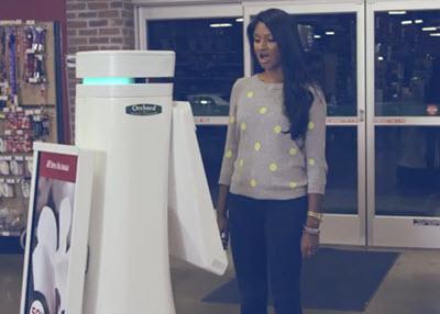 robotic shop assistant
