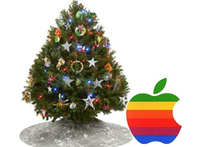 apple xmas tree