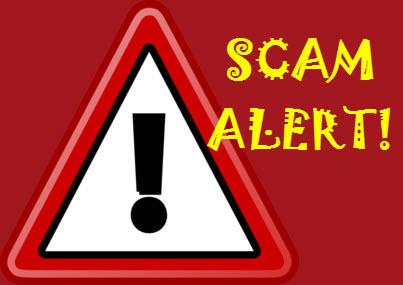 warning sign - scam alert