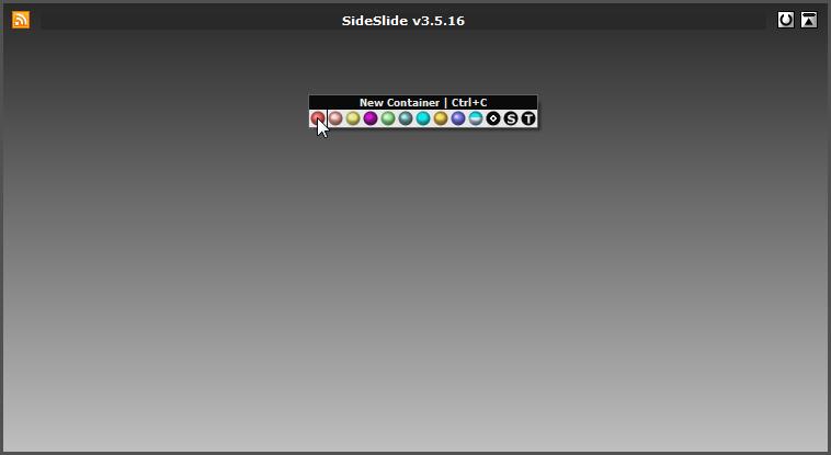 sideslide- create new items