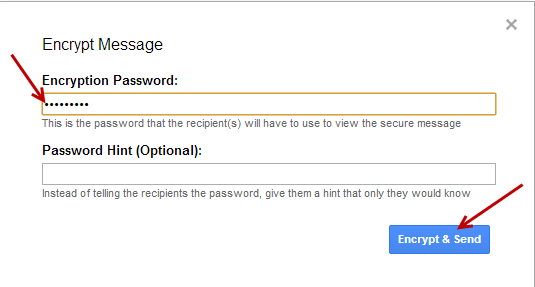 secure gmail - password